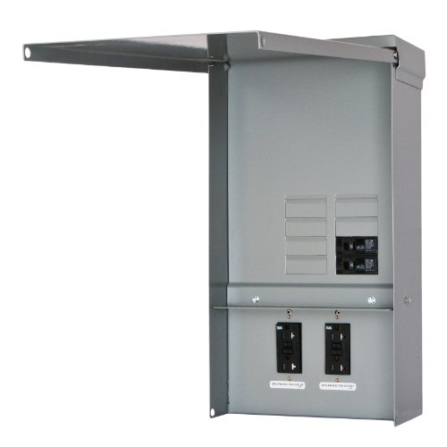 (Siemens TL77US Talon Temporary Power Outlet Panel with Two 20-Amp Duplex Receptacles Installed, Unmetered)