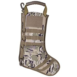 Tactical Christmas Stocking with Molle Gear in Camo