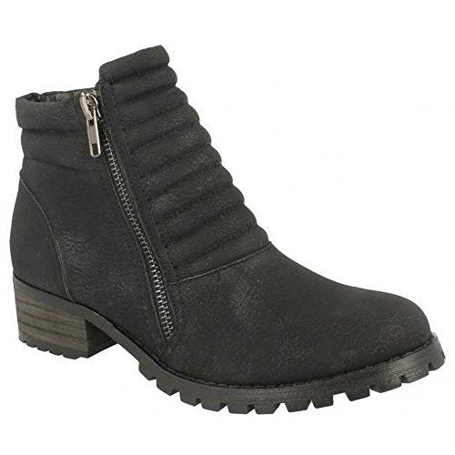 Boots Spot Ankle Ladies On Black Chunky F50243 wFqIA4I