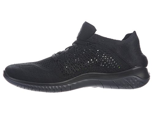 Nike Mens Free Rn Flyknit 2018 Nylon Hardloopschoenen Zwart / Antraciet