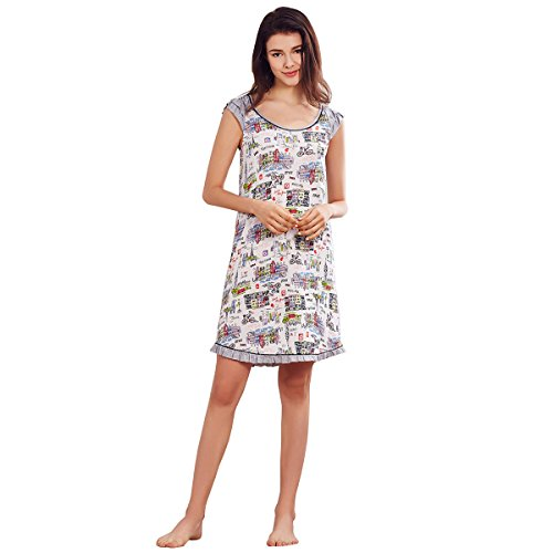 Dorekim Femmes Rayon col rond manches courtes nuit Sleepwear nuit DK2078