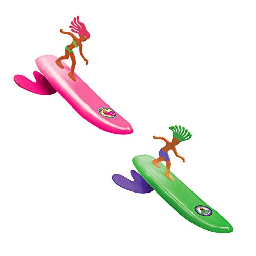 - Surfer Dudes Wave Powered Mini-Surfer and Surfboard Beach Toy - 2 Pack - Doolin and Bobbi