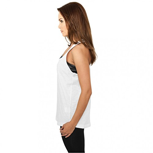 Urban Classics Ladies Tank Top Long Loose Racerback TB710 Grey