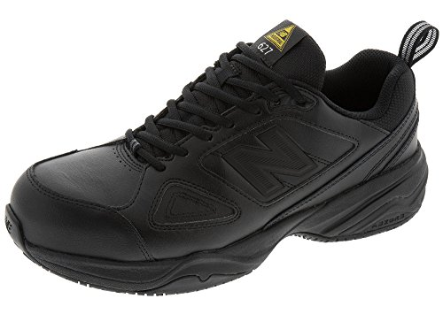 (New Balance Men's 627v2 Work Training Shoe, Black/Black, 11.5 4E)