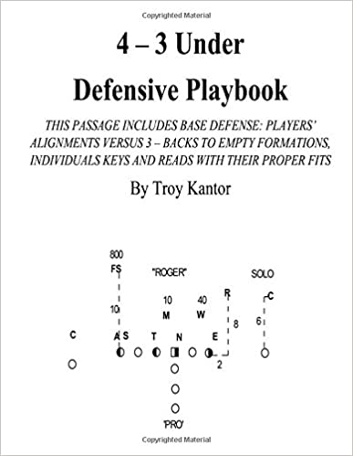 4 3 Under Defensive Playbook Base Defense Volume 1 Kantor Troy Edward 9781548463434 Amazon Com Books