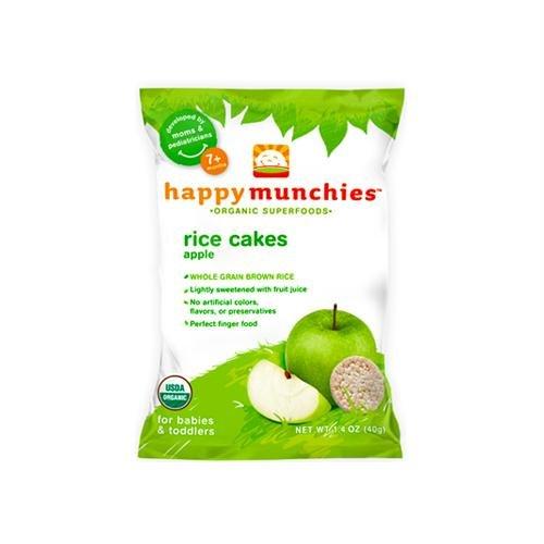 Happymunchies Organic Rice Cakes Apple