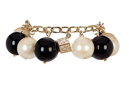 Carolee Monochromatic Faux Pearl Bracelet - Black / Pearl