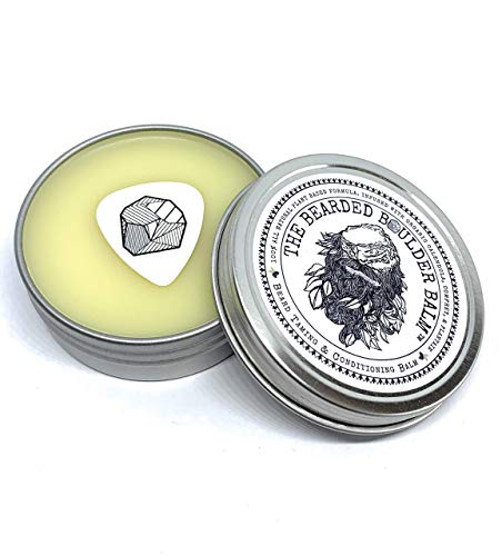 (The Bearded Boulder Balm: Beard Balm for Taming & Conditioning Dry Itchy Beards -Vegan Herb Infused Formula with Argan and Jojoba Oil 2oz)