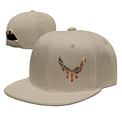 BestSeller Unisex United States Air Force Flat Snapback Adjustable Baseball Caps Hats Natural