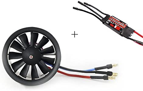 EDF 50mm KV4200 Inrunner Motor with 10 Blade Fan for Remote Control Jets