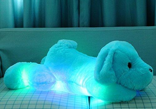 Besttime 50CM LED Lovely Dog Soft Plush Doll Toy (Blue)