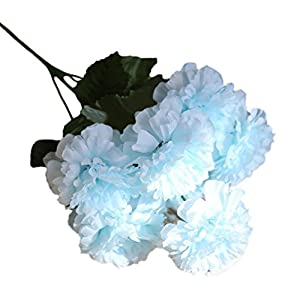 Vacally Artificial Fake Flowers Daisy Lotus Wedding Bouquet Party Home Decor For Kids Womam Girls (Blue) 75