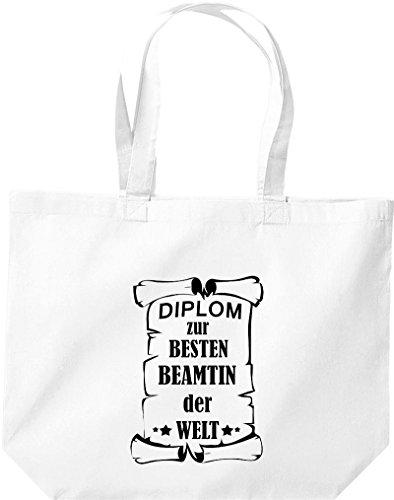 Shirtstown große Bolsa de compra, Diploma para la besten Beamtin der Welt Blanco