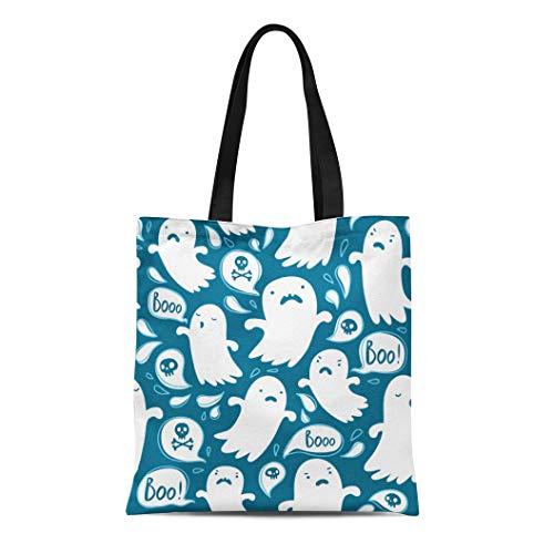 Semtomn Canvas Tote Bag Shoulder Bags Autumn Doodle