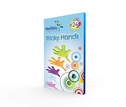 Neliblu Sticky Fingers, Fun Toys, Party Favors, Wacky Fun Stretchy Glitter Sticky Hands, Party Favors, Birthday Parties, Toys for Sensory Kids, 24 Piece