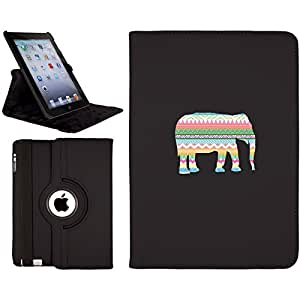 Tribal Elephant design on a iPad Air (5th Gen iPad) Swivel Stand Case