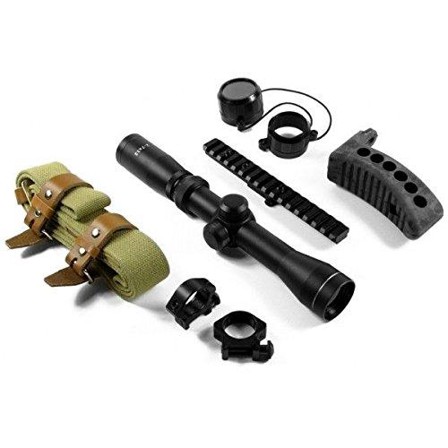 AIM Sports 2-7x32 Mosin Nagant Optics Rifle Scope Combo Kit,