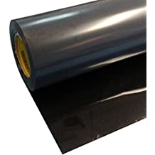 """Black 24"""" x 2.8' Iron on Heat Transfer Vinyl Sheets Easy Weed Roll HTV for T Shirts, Hats, Clothing, good for for Silhouette Cameo, Cricut or Heat Press Machine Tool"""