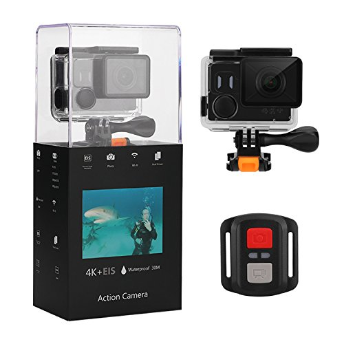 "Eloam 4K Action Camera Waterproof 2"" LCD Camera 170 Degree Wide-Angle WiFi 1080P Full HD Sports Cam With Mounting Accessory Kits (Black) Eloam"
