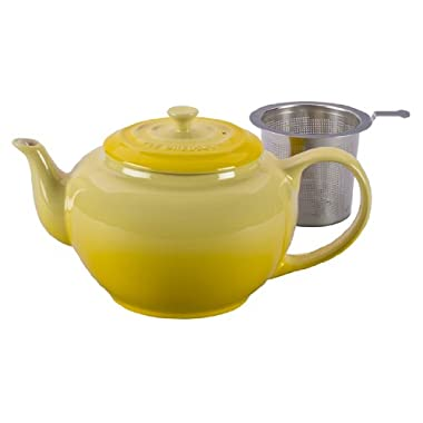 Le Creuset Stoneware Large Teapot with Stainless Steel Infuser, Soleil