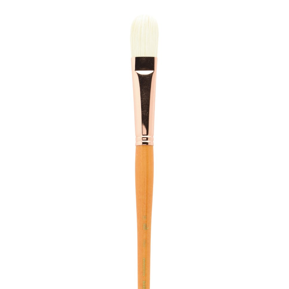Brushes for Oil and Acrylic Paint Size 6 Series 5400 Natural Chunking Bristle Princeton Refine Artist Brush Short Filbert