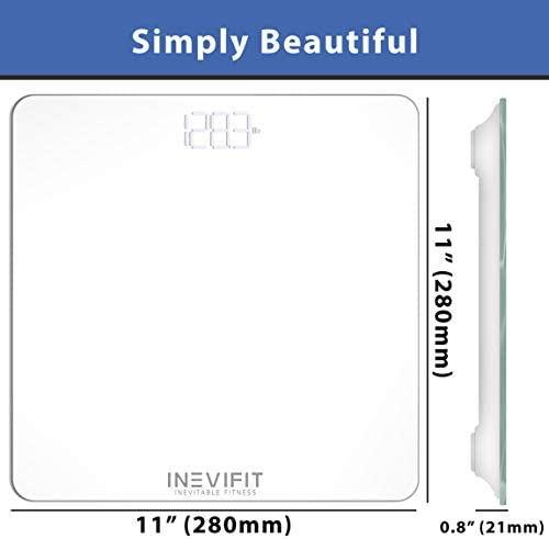 INEVIFIT Bathroom Scale, Highly Accurate Digital Bathroom Body Scale, Measures Weight for Multiple Users. Includes a 5-Year Warranty 8