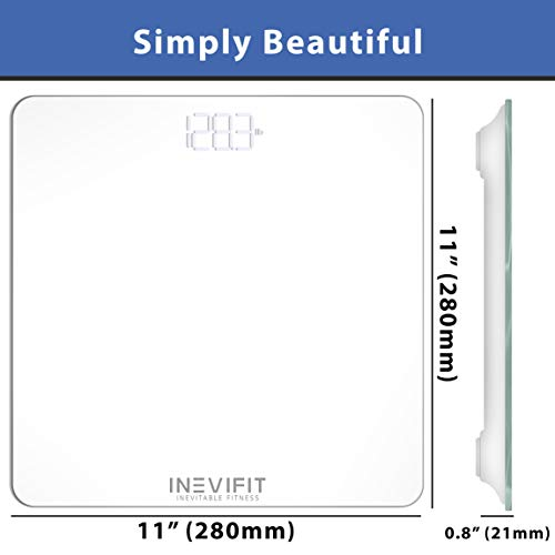 INEVIFIT Bathroom Scale, Highly Accurate Digital Bathroom Body Scale, Measures Weight for Multiple Users. Includes a 5-Year Warranty by INEVIFIT (Image #6)