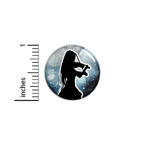 (Violin Button Pin Classical Music Outer Space Unique Gift Rad Pinback 1