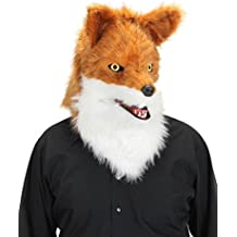 Red Fox Mouth Mover Costume Mask for Adults by elope