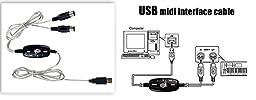 SANOXY USB MIDI Music Cable Converter PC to Music Keyboard Supports Windows XP/Vista OS