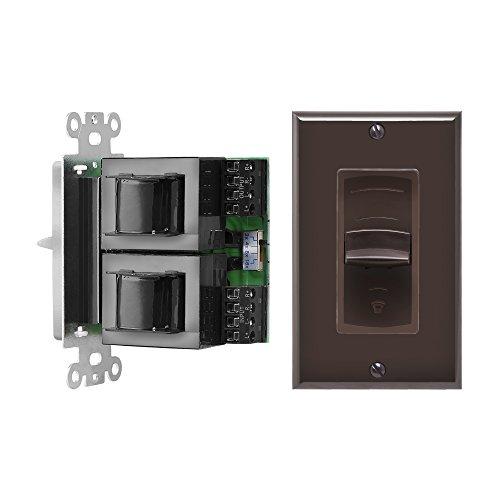 OSD Audio VMS100 100-Watt Decora Style In-Wall Impedance Matching Slider Volume Control (Brown)