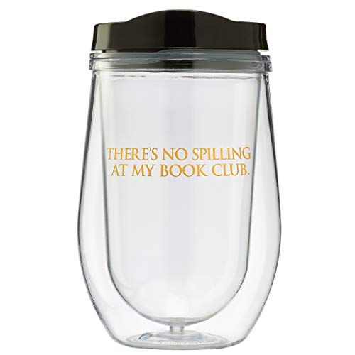 Book Club Spillproof Acrylic Wine Glass/Wine Tumbler/Wine Cup