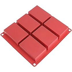 """Freshware Molde de silicona para hogazas de pan, 31.7 cm (12.5""""), Barra de jabón, Rojo, 1"""