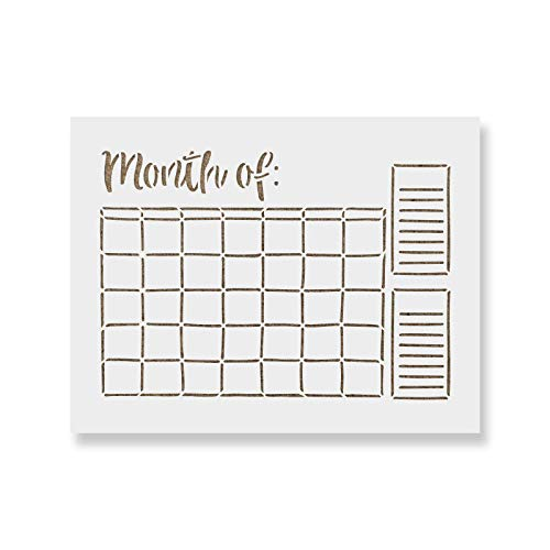 Calendar Stencil Template - Reusable Stencils for Painting in Small & Large Sizes