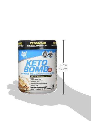 BPI Sports Keto Bomb Ketogenic Creamer for Coffee and Tea With MCT Oil, Saffron and Avocado Oil ...
