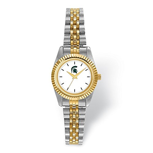 Lex & Lu LogoArt Michigan State University Pro Two-tone Ladies Watch