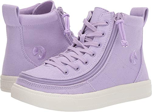 (BILLY Footwear Kids Unisex Classic Lace High (Toddler/Little Kid/Big Kid) Purple 3 M US Little Kid)