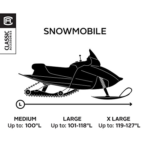 Classic Accessories 71837 SledGear Deluxe Snowmobile Travel Cover, Large