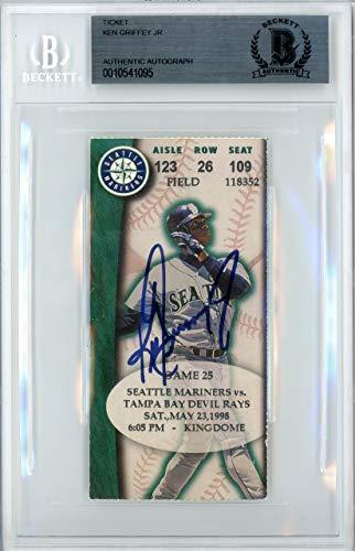 Ken Griffey Jr. Autographed Ticket Seattle Mariners 5-23-1998 Beckett BAS #10541095