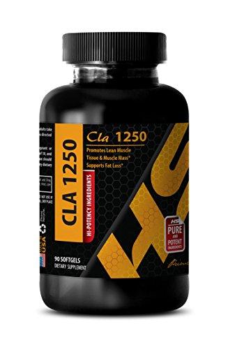Fat burner for men - CONJUGATED LINOLEIC ACID (SAFFLOWER OIL) - Conjugated linoleic acid weight loss - 1 Bottle 90 Softgels
