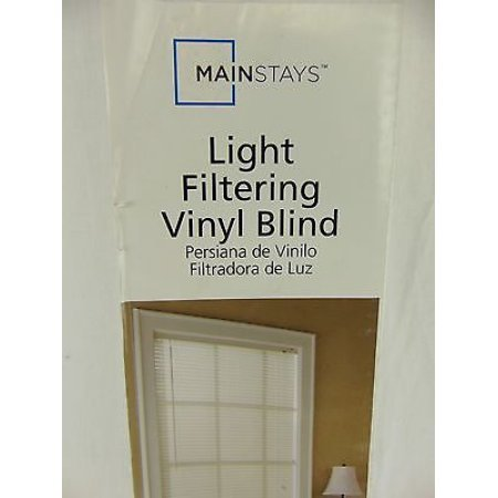 Mainstays Light Filtering Vinyl Blind- White 32