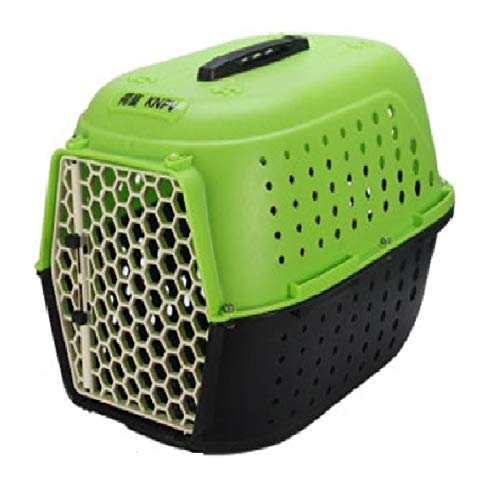 Emily Pets Pet Traditional Kennel Pets Carrier Plastic Pet Cage for Cat  Green