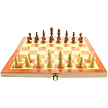 "Supplies bbhosbt 15"" Wooden Chess Set with Felted Game Board Interior for Storage (Small)"