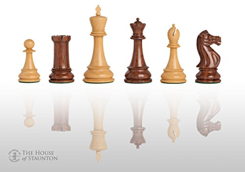 """The House of Staunton - The Sutton Coldfield Commemorative Chess Set - Pieces Only - 4.4"""" King - Golden Rosewood"""