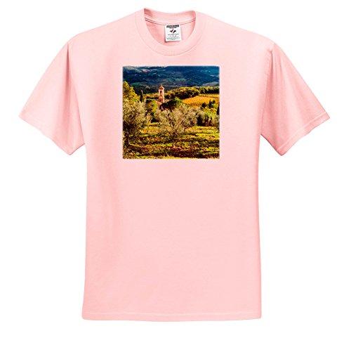 Price comparison product image 3dRose Danita Delimont - Italy - Italy,  Tuscany,  Pieve Di Santa Maria Novella Near Radda In Chianti - T-Shirts - Youth Light-Pink-T-Shirt Med(10-12) (TS_277667_45)