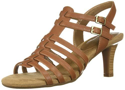 Aerosoles A2 Women's Pass Through Heeled Sandal, Dark Tan, 8 M US