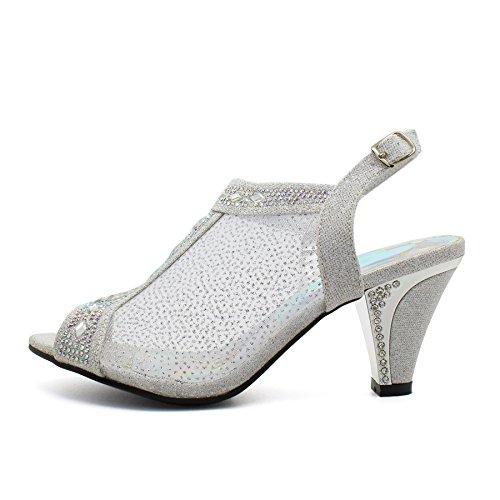 mujer London de plata Footwear Zapatos tacón RHHIOw