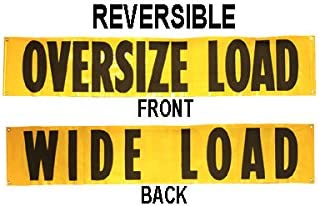 Us Cargo Control Oversized Load Sign 18 X 84 Reversible Wide Load Banner Automotive