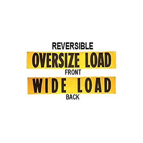Wide Load Sign >> Us Cargo Control Oversized Load Sign 18 X 84 Reversible Wide Load Banner