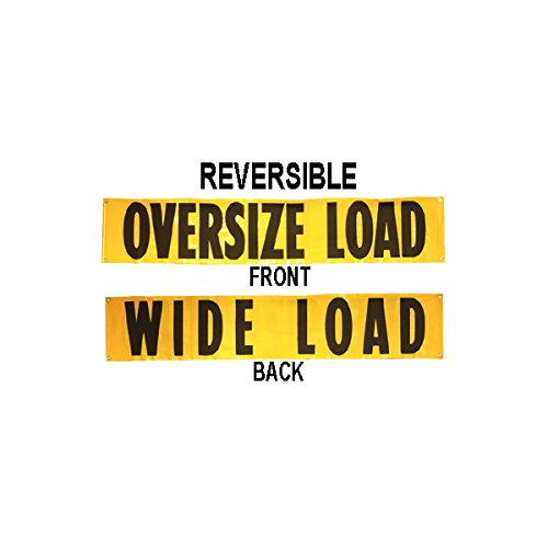 "Oversized Load Sign - 18"" x 84"" Reversible Wide Load Banner"